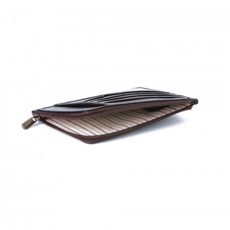 Bustina portamonete documenti carte di credito uomo in pelle con lampo DUDU