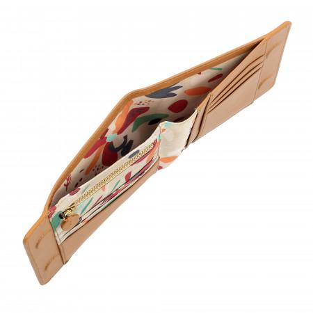DUDU Portafoglio Donna in Pelle Nappa Morbida Soft Touch con Calamite Zip Interna e Porta Carte di Credito