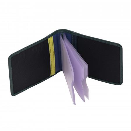 Porta carte di credito di pelle unisex multicolore firmato DUDU