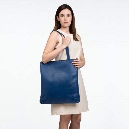 DUDU Borsa Shopper a spalla da donna in Vera Pelle Grande e Spaziosa con chiusura a Cerniera zip