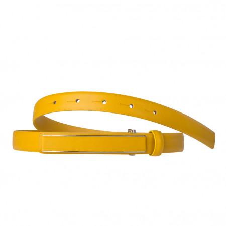 DuDu Cintura Donna in Vera Pelle Nappa Made in Italy da 19mm Accorciabile con Fibbia Automatica a placca