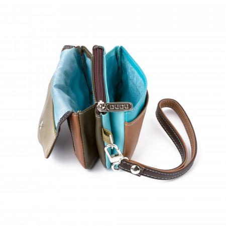 Mini borsettina donna in pelle a mano con laccetto polso di DUDU