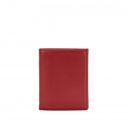 Nuvola Pelle Portafoglio Uomo Verticale a Libro in Pelle Multitasche Portamonete Carte Credito e Tessere