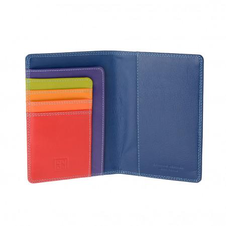 Porta passaporto pelle e carte di credito multicolore di DUDU