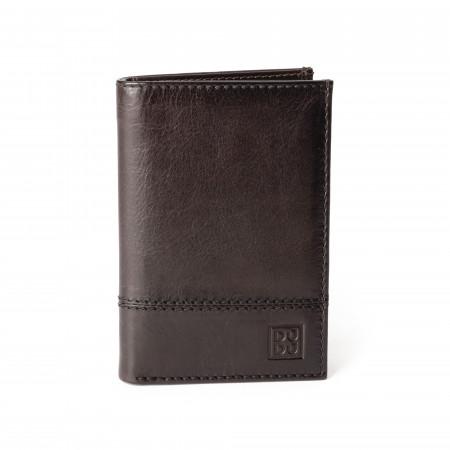 Portafoglio uomo verticale pelle alta qualità con 9 tasche porta carte tessere DUDU