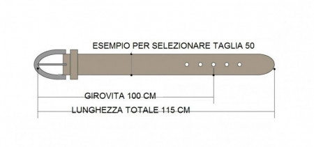 CINTURA UOMO 4 CM IN CUOIO DI TORO ORIONE BELTS ARTIGIANALE MADE IN ITALY