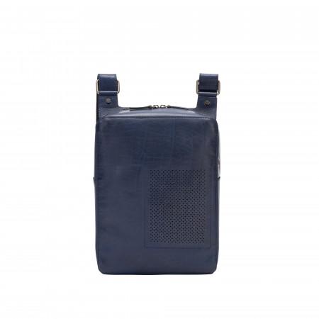DUDU Borsa Uomo a Tracolla in Pelle Borsello Messenger in bufalo per Tablet con Cerniera Zip