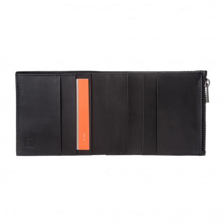 DUDU Portafoglio Uomo in Vera Pelle con Cerniera Zip YKK e Porta Carte Design sottile e semplice