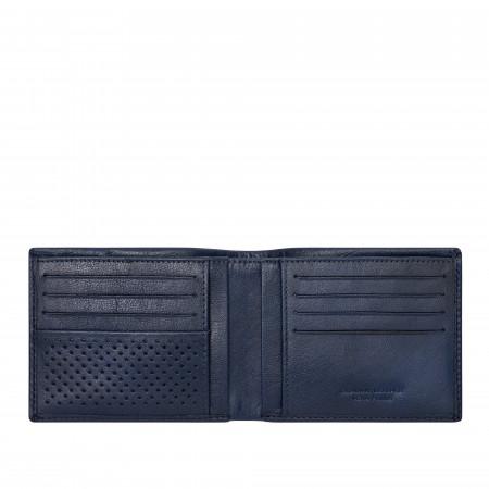DUDU Portafoglio Uomo Senza Portamonete in Pelle di Bufalo Slim Sottile con Tasche Porta Carte Tessere