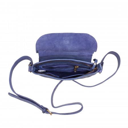 DUDU Piccola Borsa a Tracolla Spalla Donna Vintage Mini in Pelle con Cerniera Patta e Cinghia Regolabile