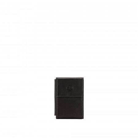 Nuvola Pelle Mini Portafoglio Uomo con Portamonete in Pelle da Giacca Slim Tascabile Minimalista