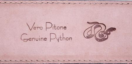 CINTURA UOMO 3,5 CM IN PITONE ORIONE BELTS ARTIGIANALE MADE IN ITALY