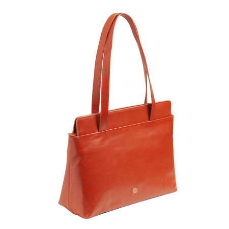DUDU Borsa Donna da Spalla Shopper Tote Shopping Bag Grande in Pelle Morbida con Cerniera