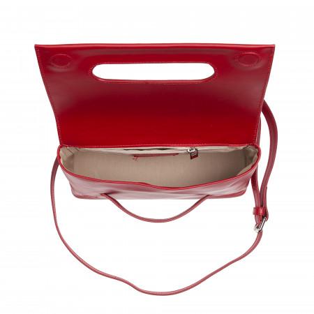 DUDU Borsa Pochette Donna a Tracolla in Pelle Artigianale Made in Italy con Maniglia a Mano e Zip esterna