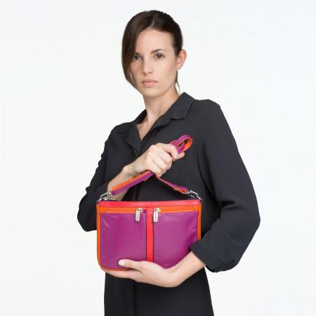 Borsa donna rettangolare a tracolla in pelle multicolor di DUDU