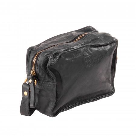 DUDU Piccola Borsa a Tracolla Spalla Donna in Pelle Vintage Morbida con Cerniera Zip e Borchie