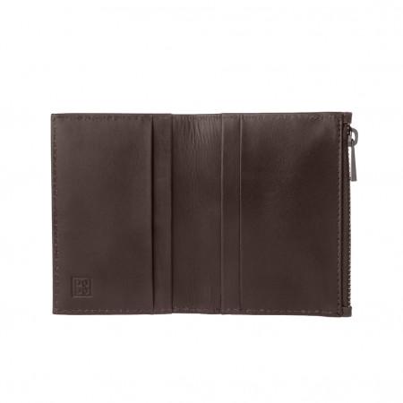 DUDU Portafoglio Porta Carte di credito Uomo in Vera Pelle Portatessere Mini Sottile con Zip