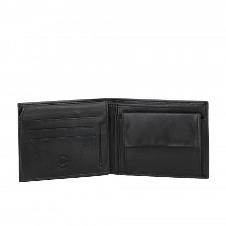 Nuvola Pelle Portafoglio Uomo Classico in Pelle con Portamonete e Porta Carte di Credito