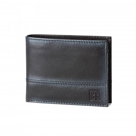 Portafoglio uomo in vera pelle portamonete carte di credito e carta d'identità DUDU