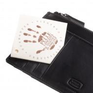 Antica Toscana Portafoglio Uomo Slim in Vera Pelle con 8 tasche Porta Carte Tessere Documenti e vano Zip Portamonete