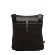 DUDU Borsa a Tracolla Uomo in Pelle e Tessuto Borsello Messenger con Cerniera Porta Tablet e iPad