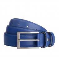 DuDu Cintura Uomo in Vera Pelle sopra e sotto Made in Italy Accorciabile da 33 mm con Fibbia Argento satinato