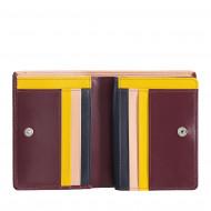 DUDU Portafoglio Donna Piccolo di Pelle Colorata Porta Carte e Tessere con Portamonete Zip e Bottone