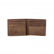 DUDU Portafoglio Uomo Porta Carte in Vera Pelle Vintage con 9 tasche Porta Tessere e Patta interna con retina