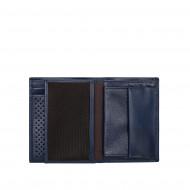 DUDU Portafoglio Uomo Vera Pelle Bufalo Verticale Trifold con Portamonete Porta Carte e Banconote