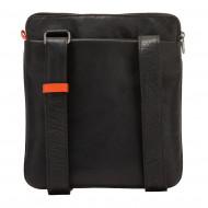 Nuvola Pelle Borsa a Tracolla Uomo Borsello in Pelle Elegante Porta Tablet iPad® con Cerniera Zip