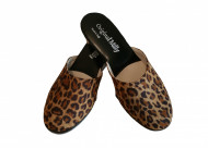 PANTOFOLA DONNA MILLY STAMPA ANIMALIER ARTIGIANALE MADE IN ITALY