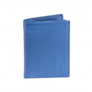 Portafoglio uomo verticale in pelle Nappa portacarte con zip interna DV