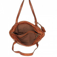 BORSA DONNA SHOPPING VINTAGE IN PELLE INTRECCIATA A MANO TUSCAN'S MADE IN ITALY