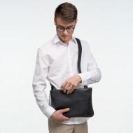 DUDU Borsa a Tracolla regolabile Slim da Uomo Donna in morbida Pelle Design Piatto con chiusura a Cerniera lampo