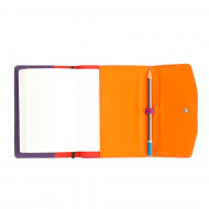 DUDU Porta Agenda in Pelle morbida Organizer formato A6 Blocco e Matita inclusi con Chiusura a bottone