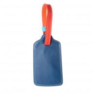 DUDU Targhetta Valigia Portanome in Pelle colorata per Bagaglio da viaggio con Laccetto regolabile