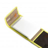 Nuvola Pelle Porta carte di credito Uomo Donna in Pelle a Bottone Porta biglietti da visita Tessere con 8 bustine in plastica trasparenti