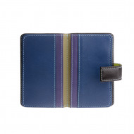 Porta carte di credito in pelle colorata con 12 portatessere Chiusura a bottone DUDU