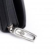 Portafoglio donna pelle morbida Nappa con portamonete zip esterno DV