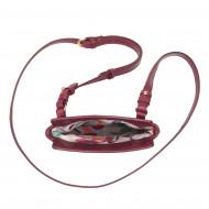 DUDU Portadocumenti da Collo Donna in Pelle da Viaggio Porta Passaporto Smartphone Occhiali