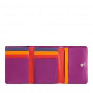 DUDU Portafoglio Donna Piccolo in Pelle RFID con Portamonete a Clic Clac Compatto 8 Porta Carte Tessere