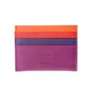 Porta carte di credito colorato in pelle Nappa 6 tasche DUDU
