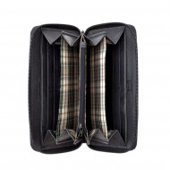 Portafoglio donna in pelle Vintage Borsellino a Fisarmonica Ventaglio Zip Around DUDU
