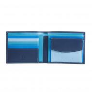 Portafoglio uomo in pelle Nappa colorato con portamonete e porta carte DUDU