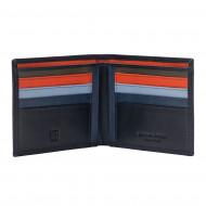 Portafoglio uomo porta carte di credito in vera pelle da 8 tessere porta banconote DUDU