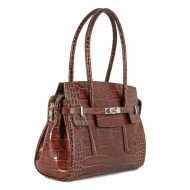 BORSA DONNA A SPALLA IN PELLE STAMPA COCCO TUSCAN'S MADE IN ITALY