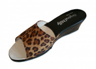 CIABATTA DONNA MILLY STAMPA ANIMALIER ARTIGIANALE MADE IN ITALY