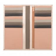 DUDU Portafoglio Donna RFID in Pelle Rosa Schermato Grande con 16 Tasche Porta Carte di Credito
