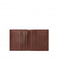 DUDU Portafoglio Uomo Vera Pelle Piccolo con Portamonete Porta Carte Tessere Tascabile Documenti Banconote