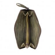 Portafoglio donna in pelle tinto in capo vissuto vintage zip around DUDU